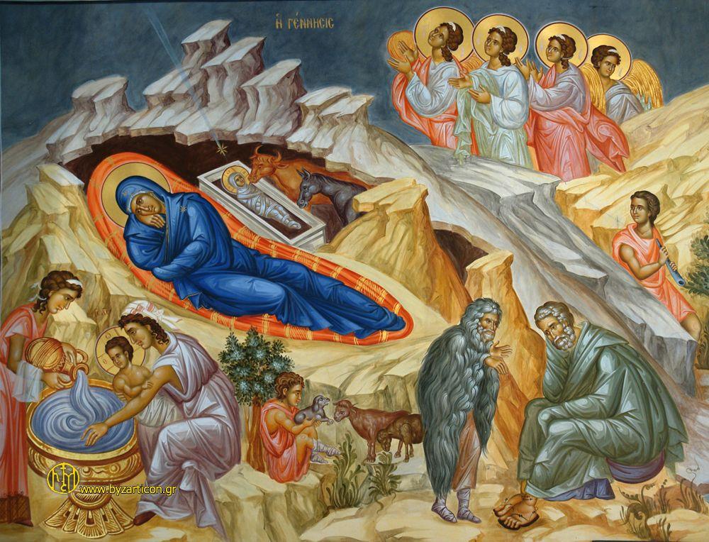 Καταβασίαι Χριστουγέννω (κείμενο, μετάφραση, ψαλτική απόδοση από τον αείμνηστο Ματθαίο Τσαμκιράνη))
